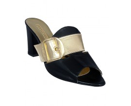 Le Stelle Black And Gold Slippers