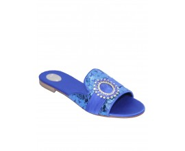 Louis David Slippers- Blue