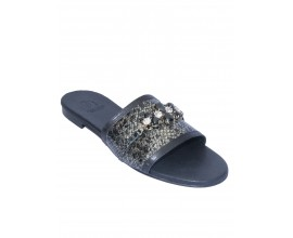 Louis David Slippers- Black
