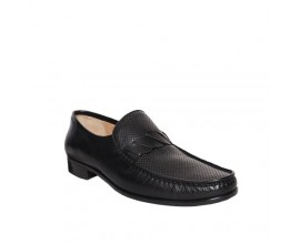 Mario Fagni Stamped Calf Leather Nappa Nero