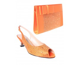 Raimondo Buccelli Shoe & Bag - ORANGE